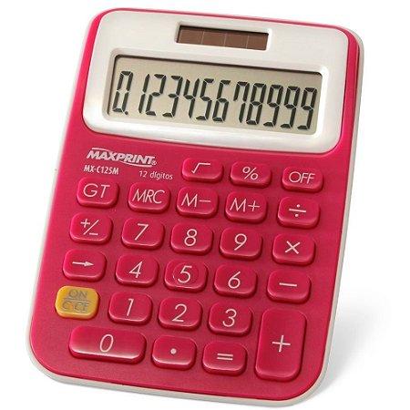 Calculadora De Mesa Maxprint Rosa Mx-c125m