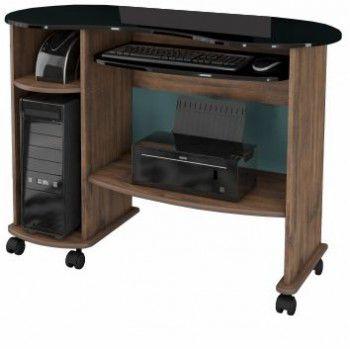 Mesa para Computador Dalla Costa C18 Nobre/Preto
