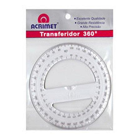 Transferidor Acrílico 360º - Acrimet