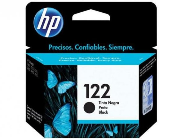 Cartucho de Tinta HP 122 Preto 2ml