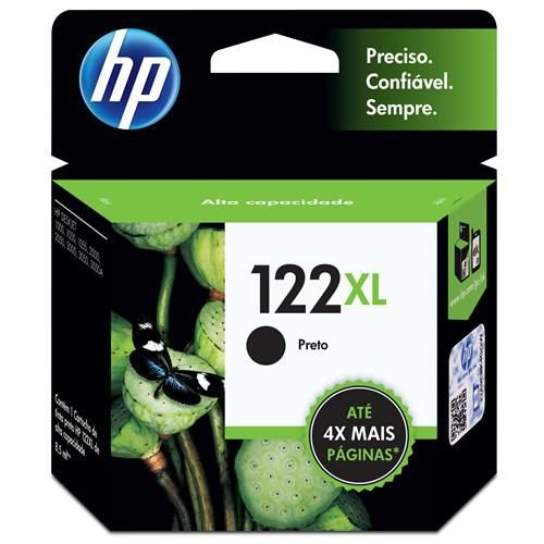 Cartucho de Tinta HP 122 XL Preto 8,5ml