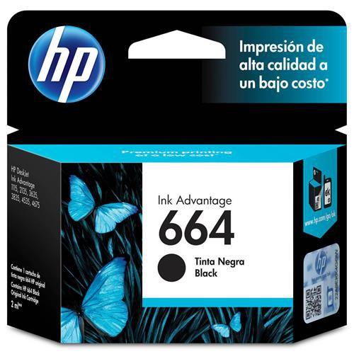 Cartucho de Tinta HP 664 Preto