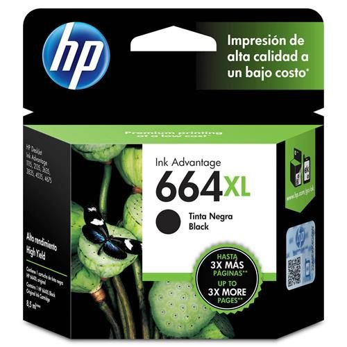 Cartucho de Tinta HP 664 XL Preto