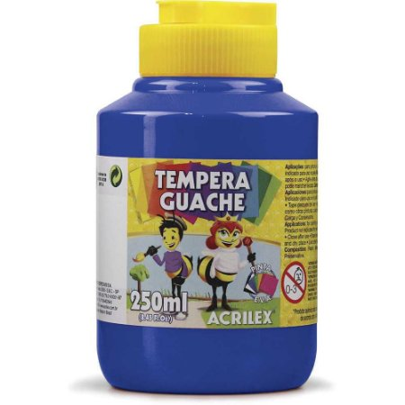 Tinta guache 250 ml azul turqueza 501 Acrilex 1 UN