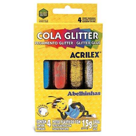COLA COM GLITER C/04 CORES 15G ACRILEX