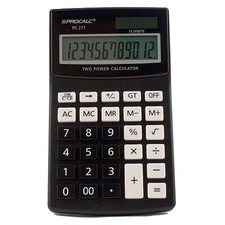 Calculadora De Mesa Pc271 12 Digitos Procalc