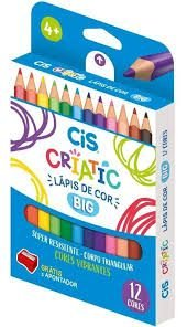 Lápis De Cor C/12 Jumbo Criatic Cis