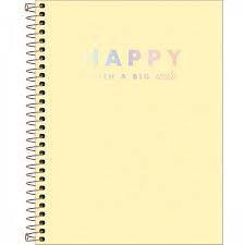Caderno Colegial Happy 80Fls Tilibra Amarelo