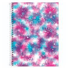 Caderno Universitário Good Vibes 10 Matérias Tilibra