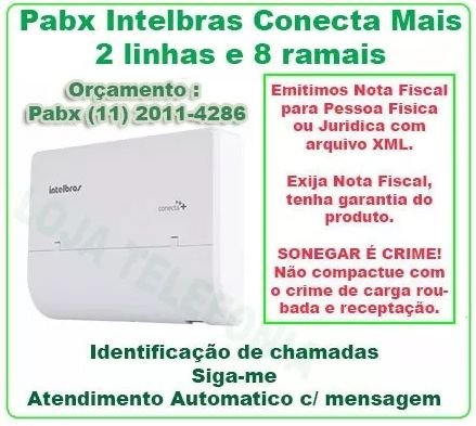 Pabx Intelbras Conecta Mais