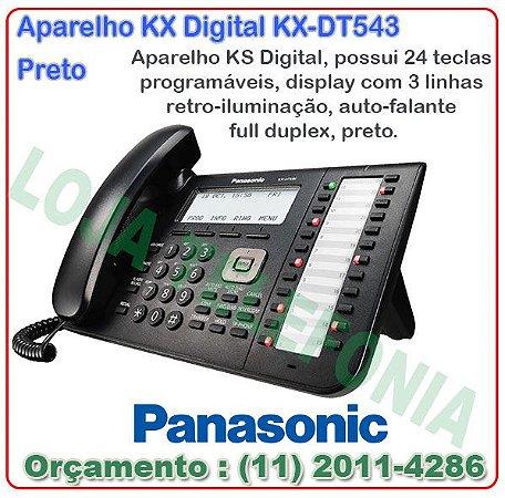 Terminal Digital Panasonic KX-DT546X-B Preto