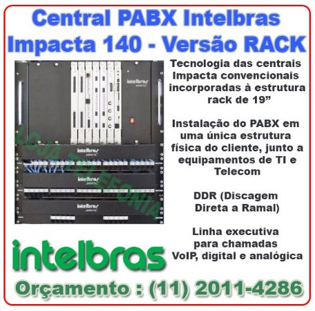 Central PABX INTELBRAS IMPACTA 140 - Versão Rack
