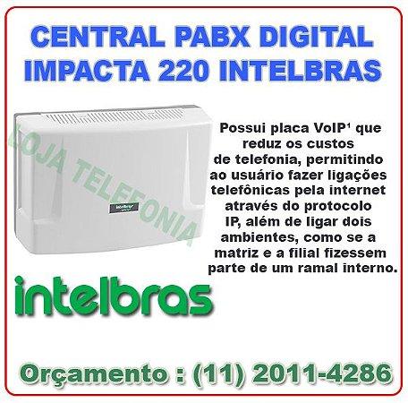 CENTRAL PABX DIGITAL IMPACTA 220 INTELBRAS - Store Telecom....