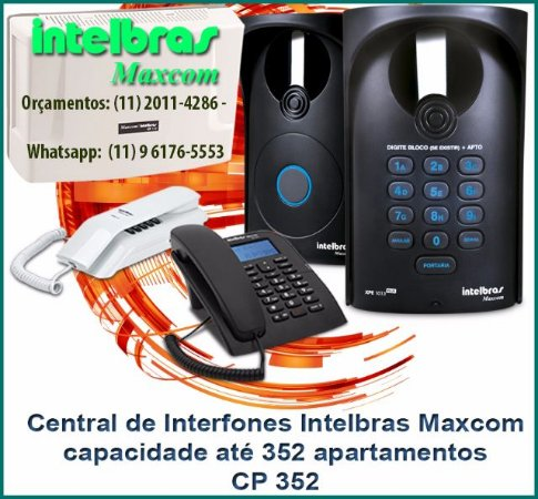 Central de Interfones Intelbras Maxcom CP 352