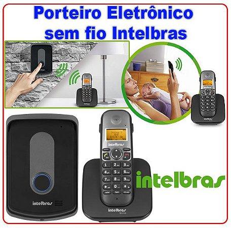 Kit Porteiro Eletrônico e Telefone sem Fio Preto Intelbras ...