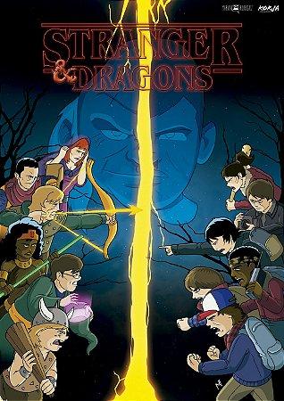 Poster Stranger Things vs. Caverna do Dragão