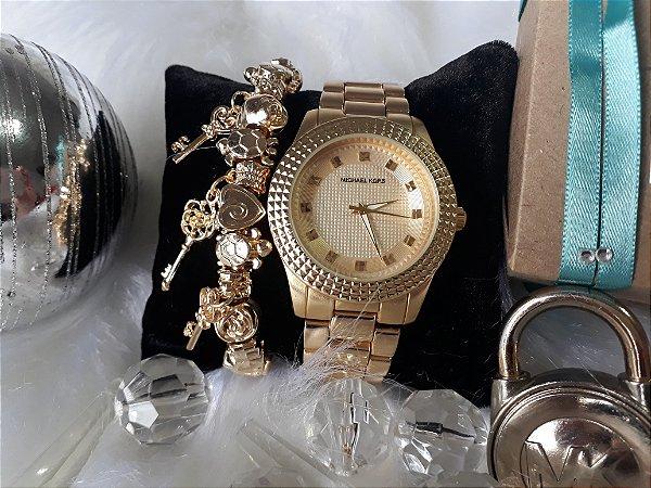 6d5bd1078 Kit Relógio Michael Kors Mod.3.1 Dourado - HoraEstilo - Réplicas de ...