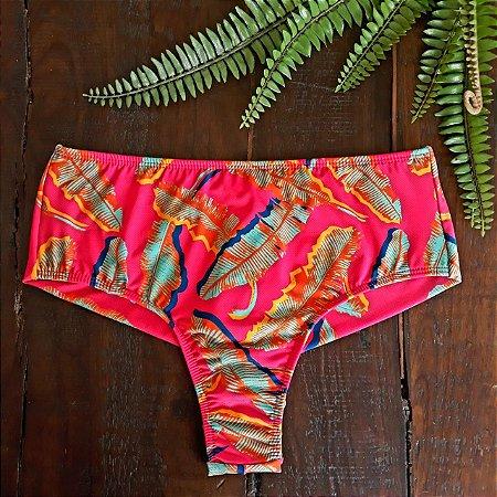 Calcinha de Biquíni Hot Pant Cintura Alta Fio Duplo