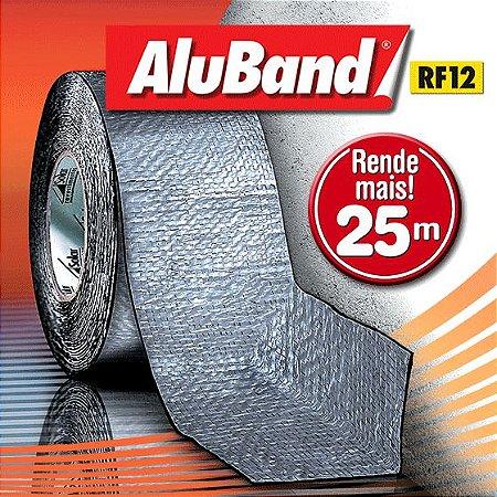 Manta Multiuso de Alumínio com Ráfia na cor Cinza - AluBand RF12 Cinza Maxi - Rolos 25m