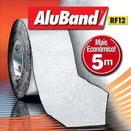 Manta Multiuso de Alumínio com Ráfia na cor Branca - AluBand RF12 Branca Mini - Rolos 5m