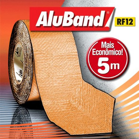 Manta Multiuso de Alumínio com Ráfia na cor Terracota - Rolos 5m - AluBand RF12 Terracota Mini