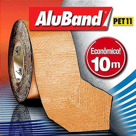 Manta Impermeabilizante Asfáltica Autoadesiva Multiuso de Alumínio com Poliéster na cor Terracota - AluBand PET11 Terracota - Rolos 10m