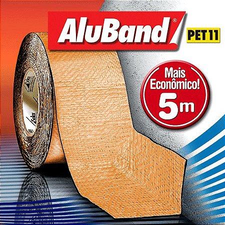 Manta Impermeabilizante Asfáltica Autoadesiva Multiuso de Alumínio com Poliéster na cor Terracota - AluBand PET11 Terracota Mini - Rolos 5m