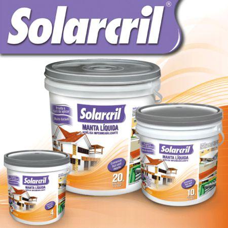Manta Líquida Acrílica Impermeabilizante - Solarcril Cinza