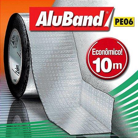 Manta Impermeabilizante Asfáltica Autoadesiva Flexível com Polietileno - AluBand PE06 Alumínio - Rolos 10m
