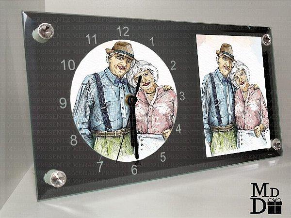 Relógio espelhado personalizado
