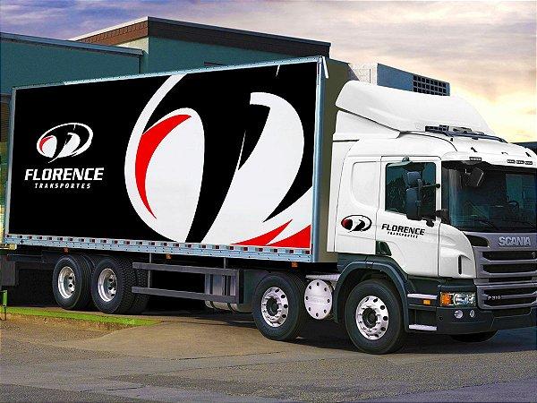 Adesivo personalizado para baú de caminhão por m²