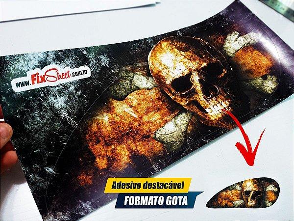 Par de adesivos Gota Skull tanque Intruder