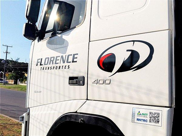 Logotipo adesivo para porta caminhão