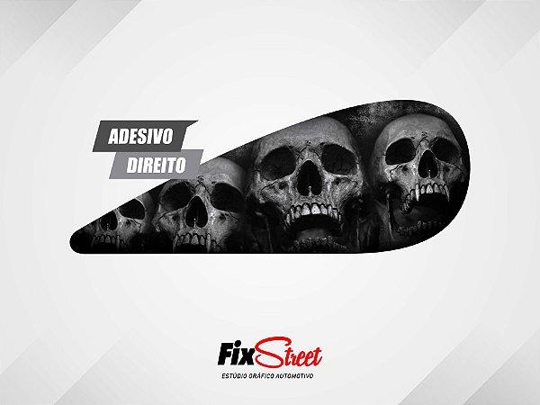 Par de adesivos Gota Skull Caveira PB para tanque Yamaha Virago 250