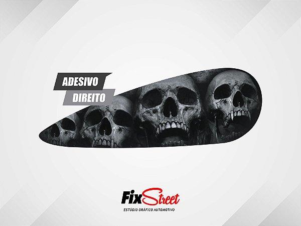 Par De Adesivos Gota Skull PB Caveira Harley Davidson Fat Bob