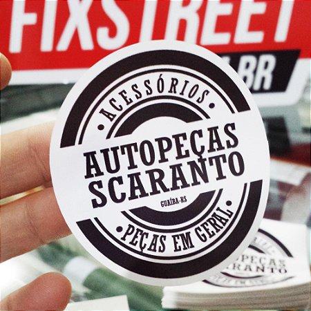 Kit com 10 adesivos personalizados com seu logotipo