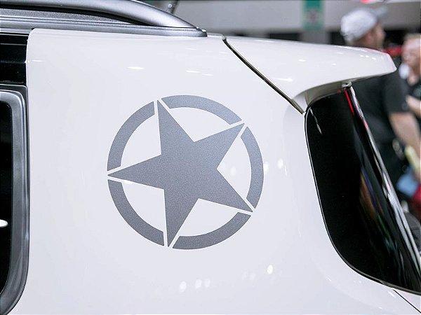 Adesivo Estrela Militar para coluna Jeep Renegade