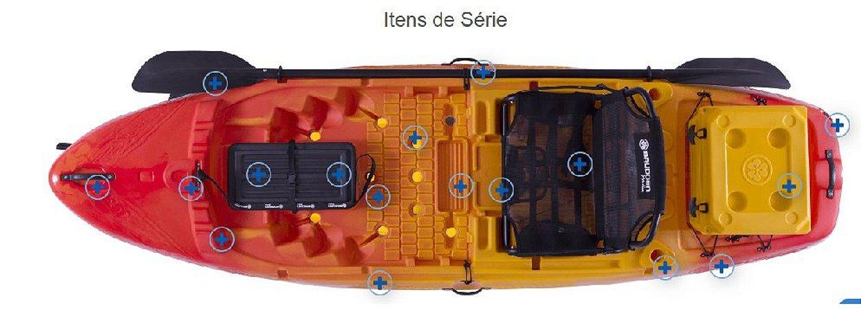 Caiaque Hunter Fishing 285 - Caiaque Individual - Borda alta, muito robusto, estável e veloz. Vem com um cooler na cor do caiaque.  Preparado para  motorização com kit especifico para o  modelo. CONSULTE POSSÍVEIS DESCONTOS NO PREÇO DE TABELA: