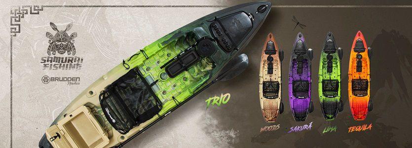 Samurai Fishing Combo - Caiaque Individual - A maior capacidade de carga entre os caiaques individuais. Preparado para motorização com kit especifico para o modelo. Consulte possíveis DESCONTOS no PREÇO DE TABELA: