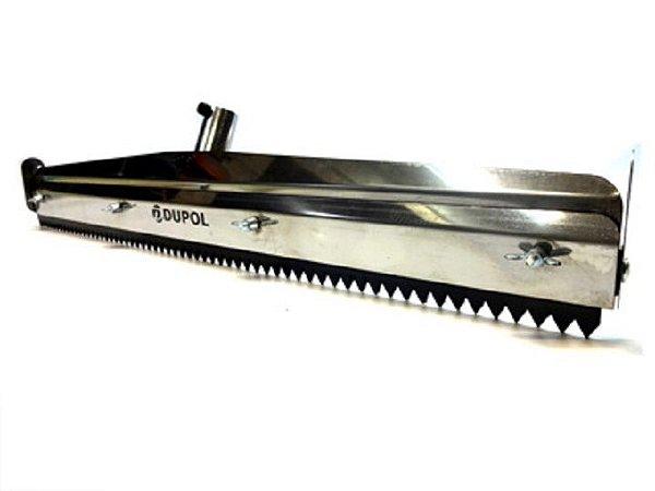 Rodo dentado inox para piso autonivelante 60 Cm
