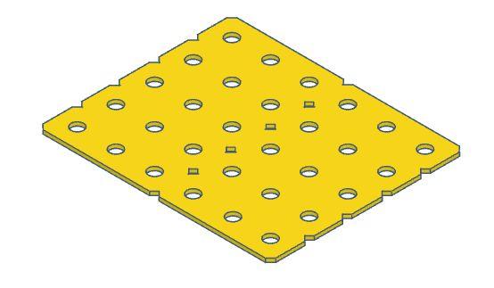 Modelix 390a - Plataforma Plastica 5x6 Amarela