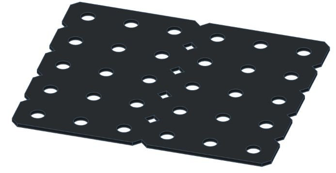 Modelix 390p - Plataforma Plastica 5x6 Preta