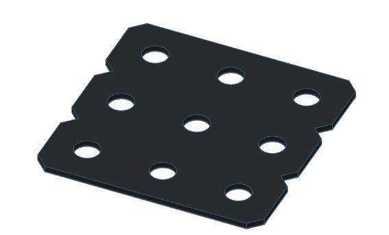 Modelix 447p - Plataforma Plastica 3x3 Preta