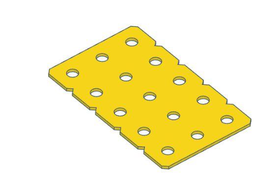 Modelix 353a - Plataforma Plastica 5x3 Amarela