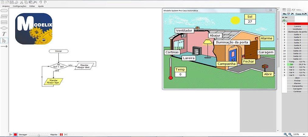 Modelix 393 -  Software para Robotica Modelix System Simulador com Cenários (não usa controlador)