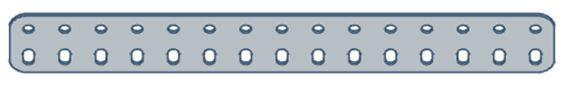 Modelix 404 - Barra de 2 Fileiras 15 furos