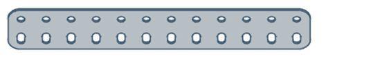 Modelix 403 - Barra de 2 Fileiras 12 furos