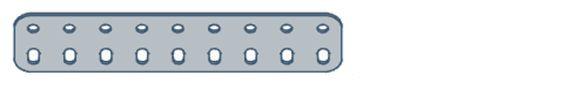 Modelix 401 - Barra de 2 Fileiras 9 furos