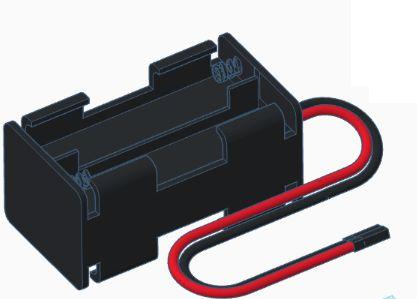 Modelix 349 - Suporte para 4 pilhas AA