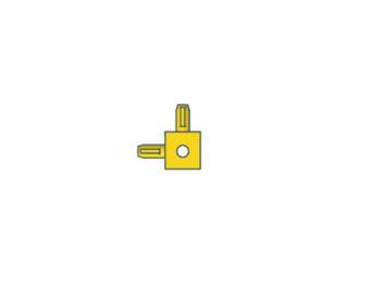 Modelix 418 - Kids Cubo 90 graus - amarelo